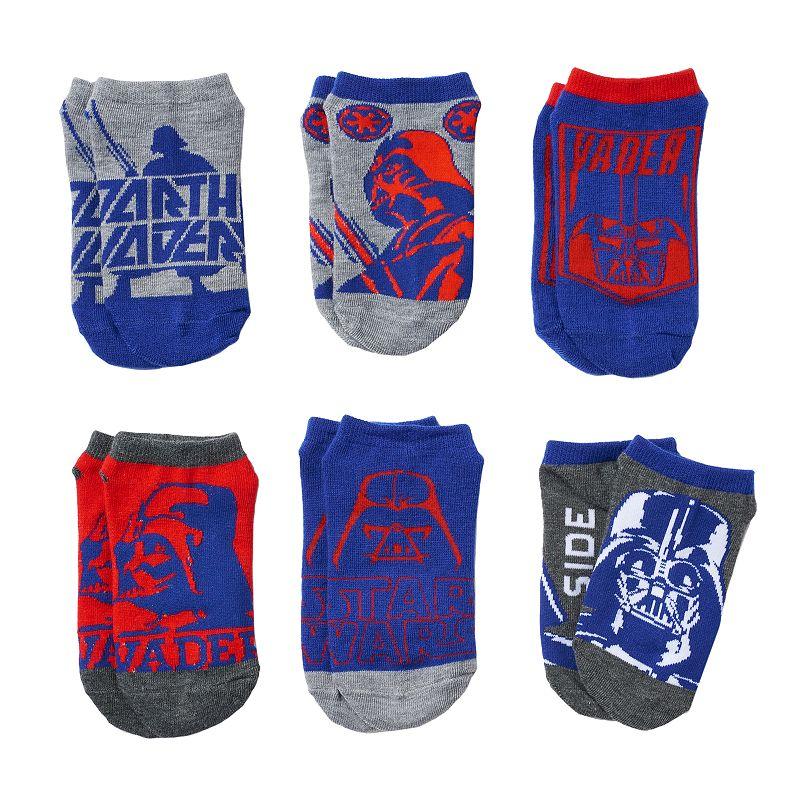 Boys 8-20 Star Wars 6-Pack Darth Vader Ankle Socks