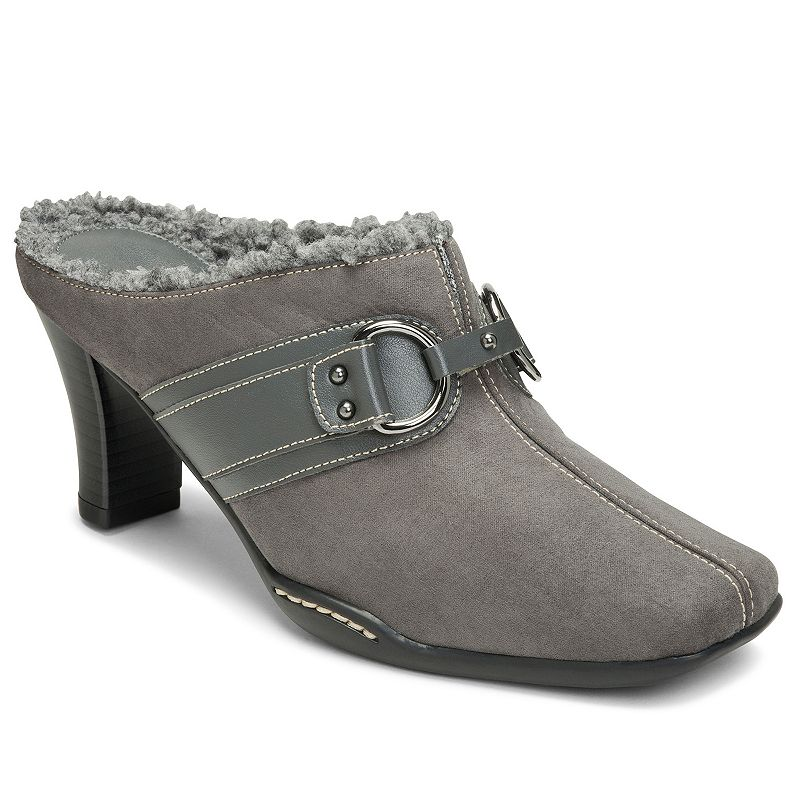 A2 by Aerosoles Snapjack Women's Faux-Fur Lined Mules