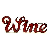 Rustic Arrow ''Wine'' Wall Decor