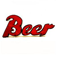 Rustic Arrow ''Beer'' Wall Decor