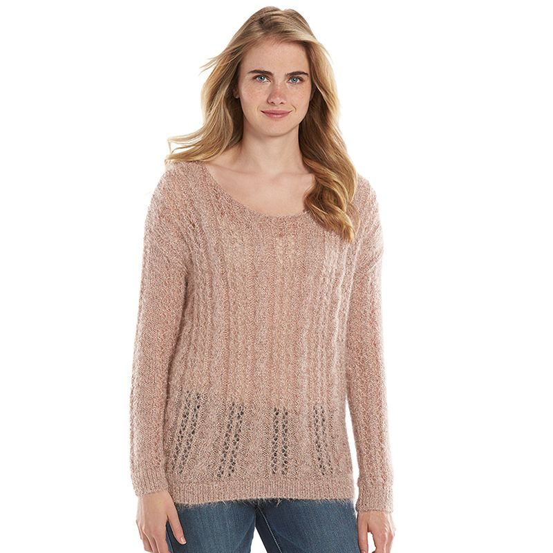 Women's LC Lauren Conrad Eyelash Scoopneck Sweater