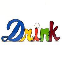 Rustic Arrow ''Drink'' Multicolor Wall Decor
