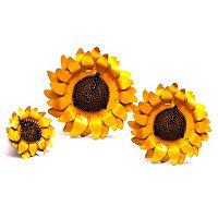 Rustic Arrow 3-Piece Sunflower Wall Decor Set
