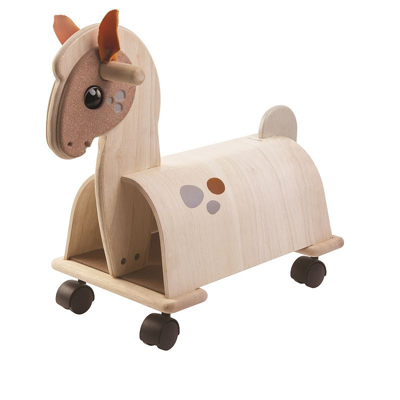 Plan Toys Ride-On Pony, Multicolor