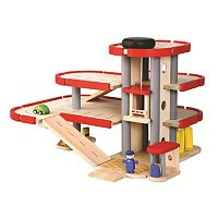 Plan Toys Wood Parking Garage