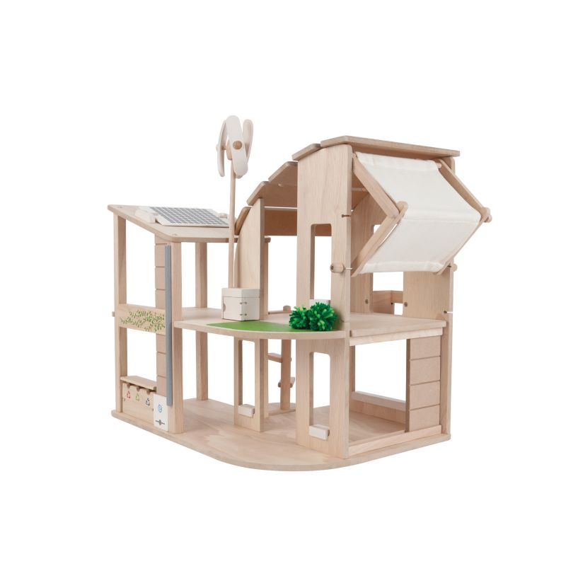 Plan Toys Green Dollhouse, Multicolor