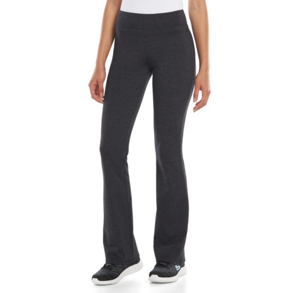 Juniors' SO® Heathered Skinny Bootcut Yoga Pants