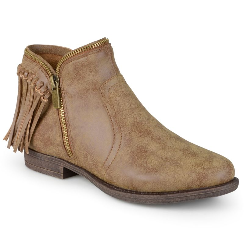 journee collection s fringe ankle boots
