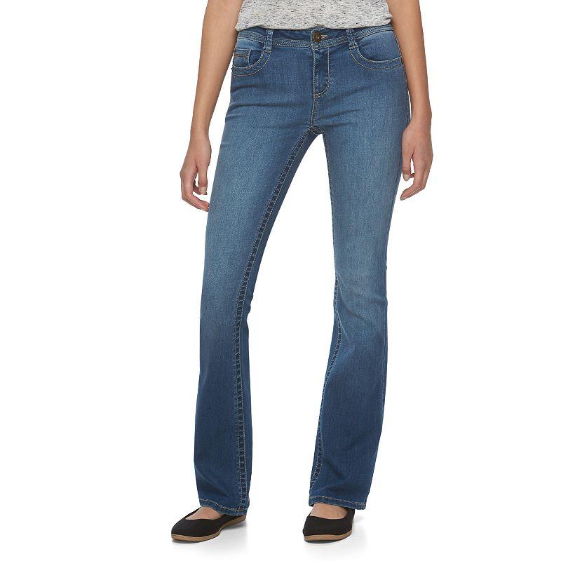 Juniors' Mudd® Faded Skinny Bootcut Jeans