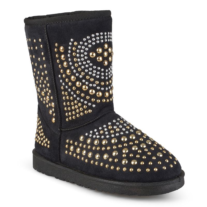 Journee Collection Knob Women's Studded Boots