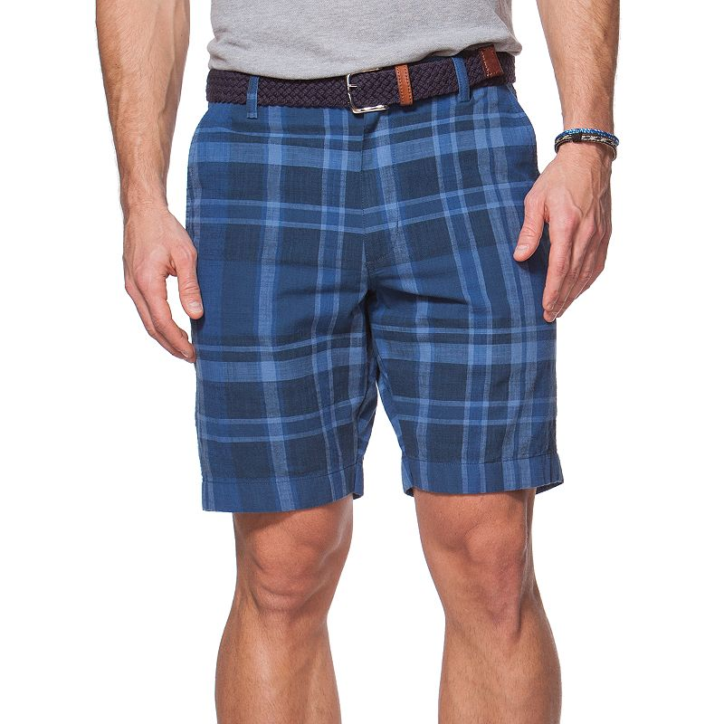 Men's Chaps Plaid Flat-Front Shorts