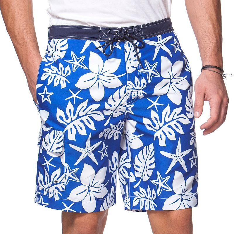 Men's Chaps Hibiscus Board Shorts