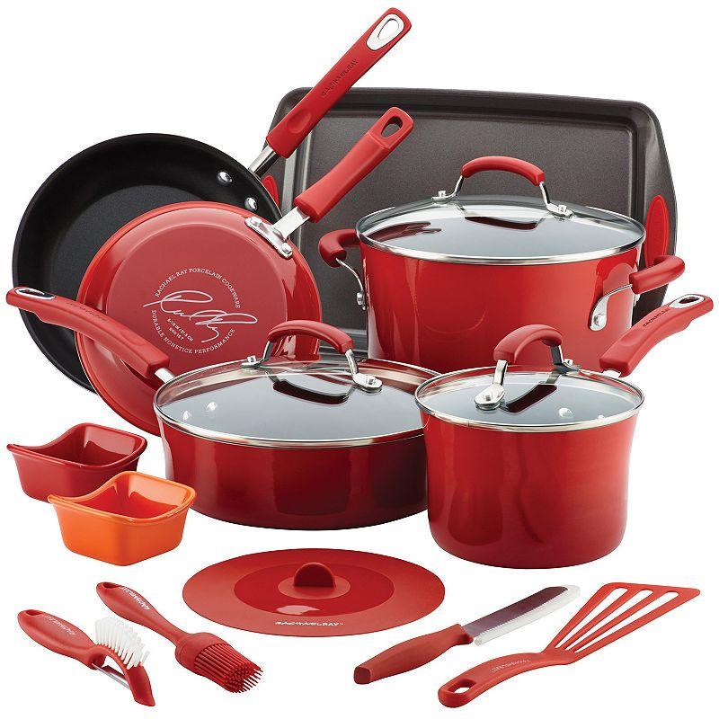 Rachael Ray 16-pc. Nonstick Aluminum Cookware Set