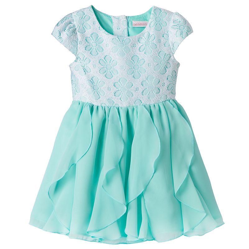 Toddler Girl Youngland Flower Ruffle Dress