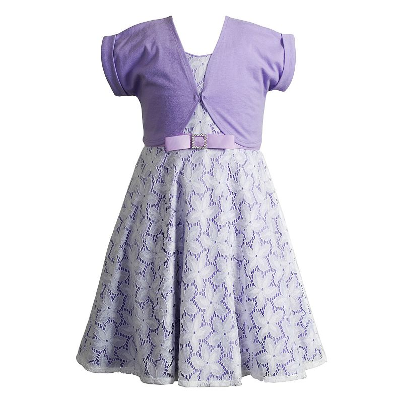 Girls 4-6x Youngland Lace Dress & Shrug Set