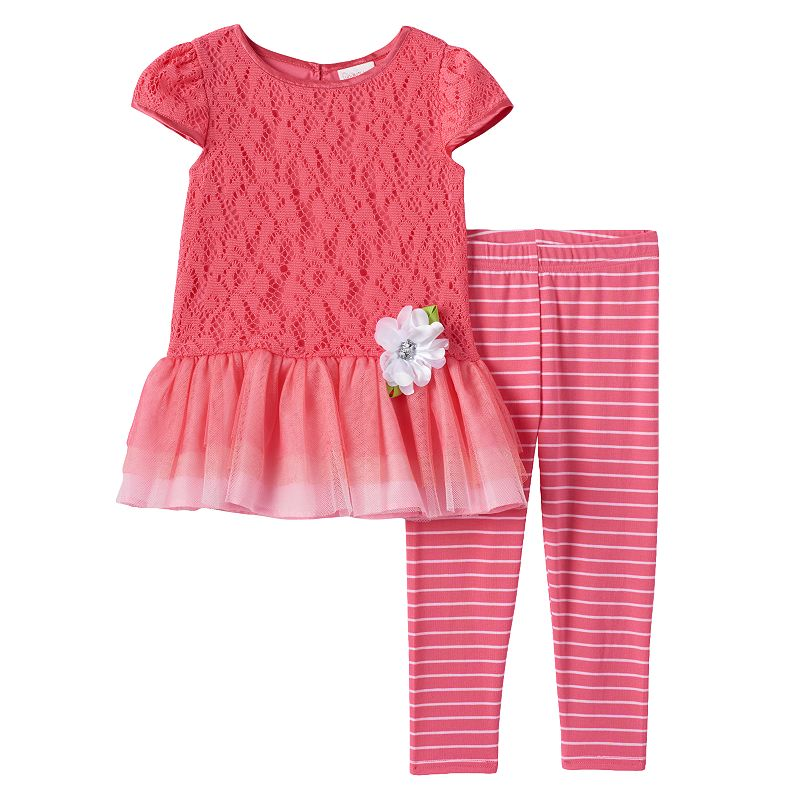 Toddler Girl Youngland Tutu Dress & Leggings Set