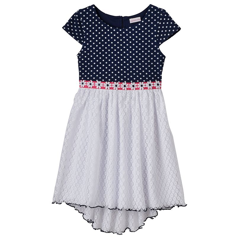 Girls 4-6x Youngland Knit Polka-Dot High-Low Dress