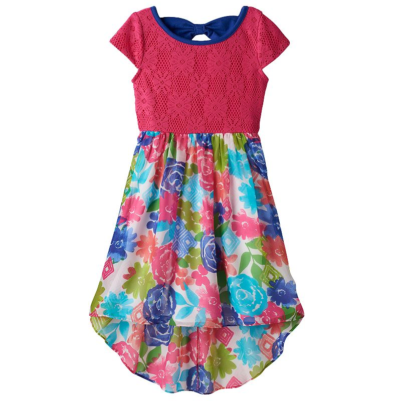 Girls 4-6x Youngland Floral High-Low Dress