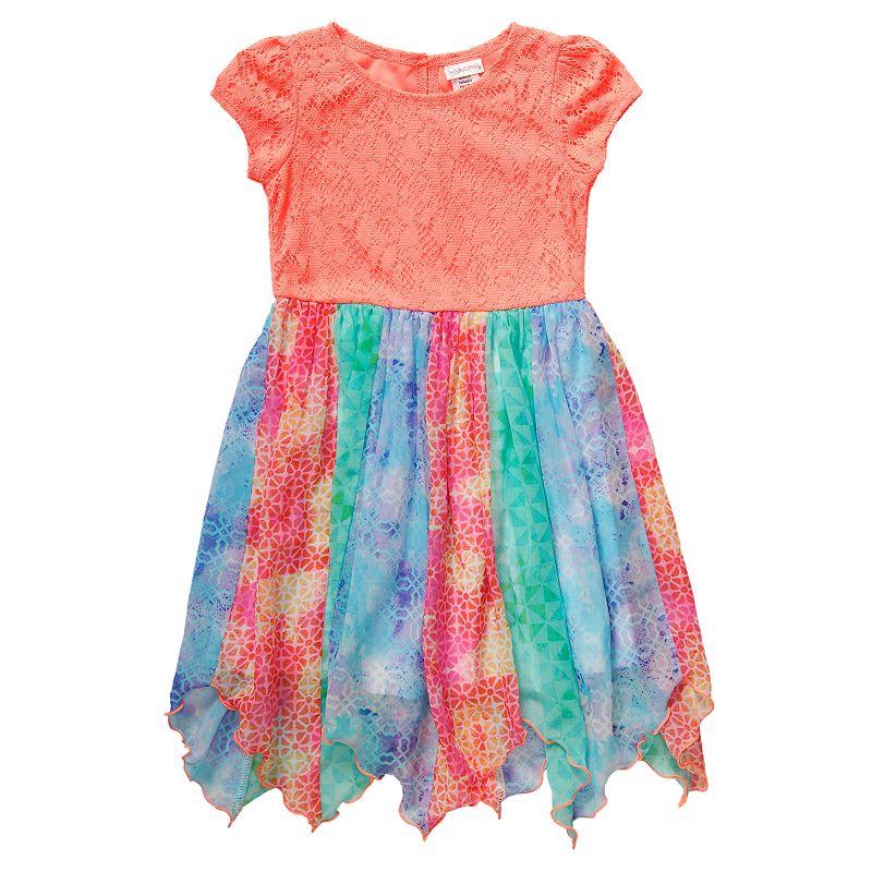 Girls 4-6x Youngland Crochet Handkerchief-Hem Dress