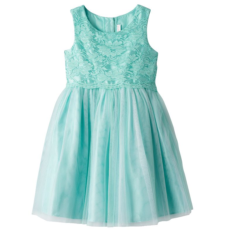 Girls 4-6x Youngland Floral Lace Popover Dress