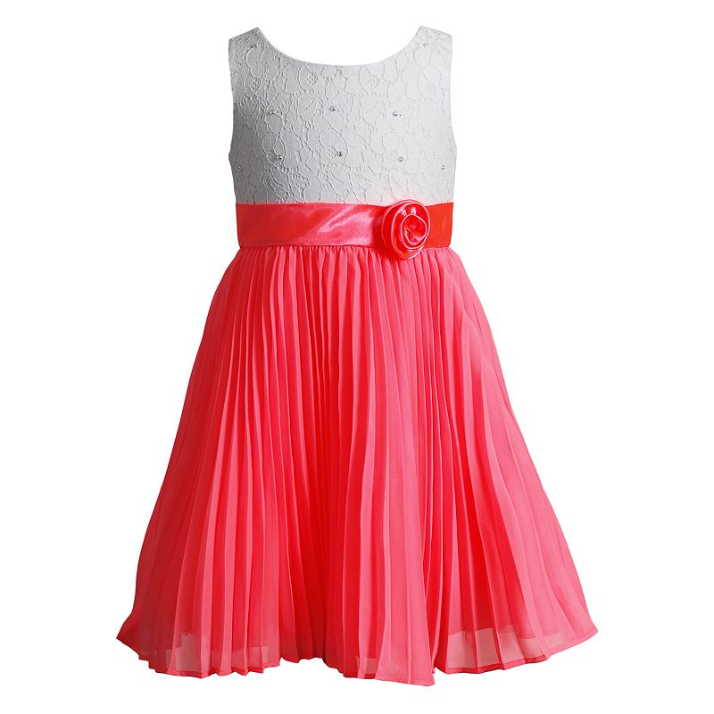 Girls 4-6x Youngland Lace Pleated Dress