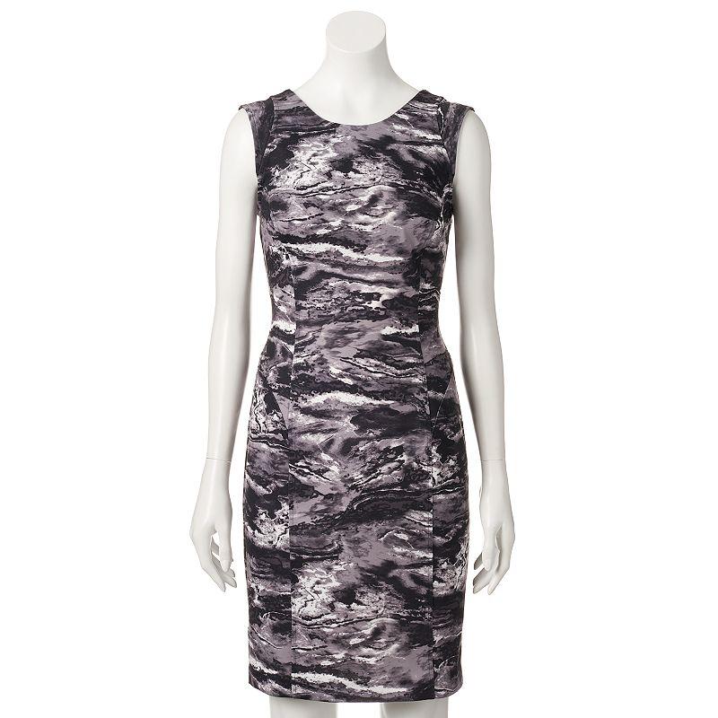 Petite Jennifer Lopez Watercolor Bodycon Dress