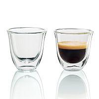 DeLonghi 2-pc. Double-Wall Espresso Glass Set