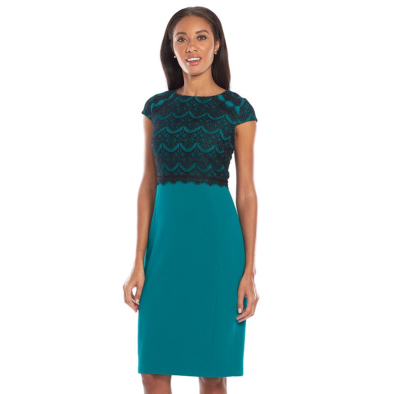 Chaya Lace Textured Sheath Dress - Women's