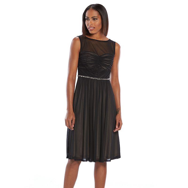 Chaya Embellished Pleated Mesh Dress - Women's