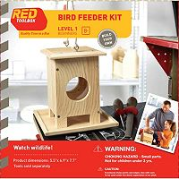 Red Tool Box DIY Wood Bird Feeder Building Kit