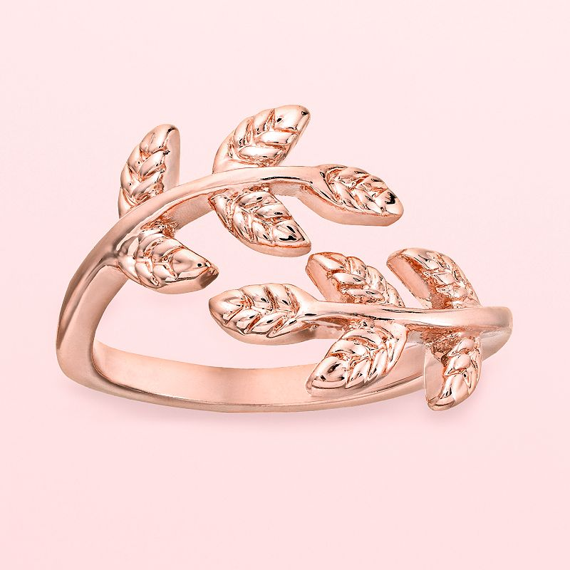LC Lauren Conrad Runway Collection Leaf Open Midi Ring