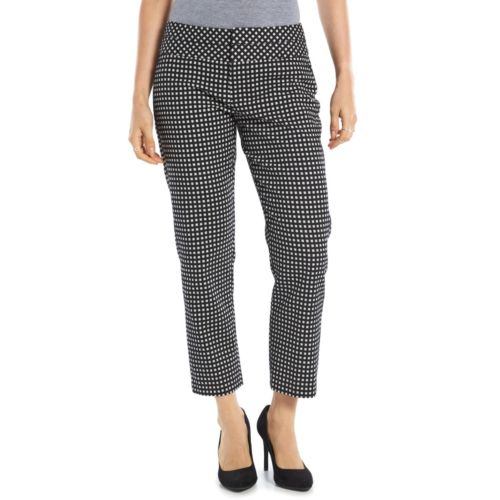 Women's ELLE™ Checked Ankle Pants