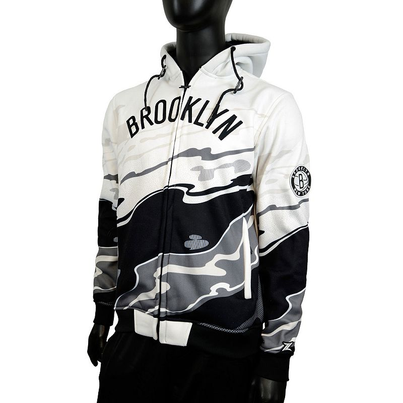 Men's Zipway Brooklyn Nets Hot Lava Hoodie