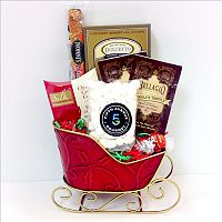 Fifth Avenue Gourmet The Holiday Sleigh Candy Gift Basket