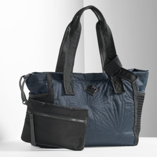 Simply Vera Vera Wang Stitched Mesh Tote & Coin Pouch