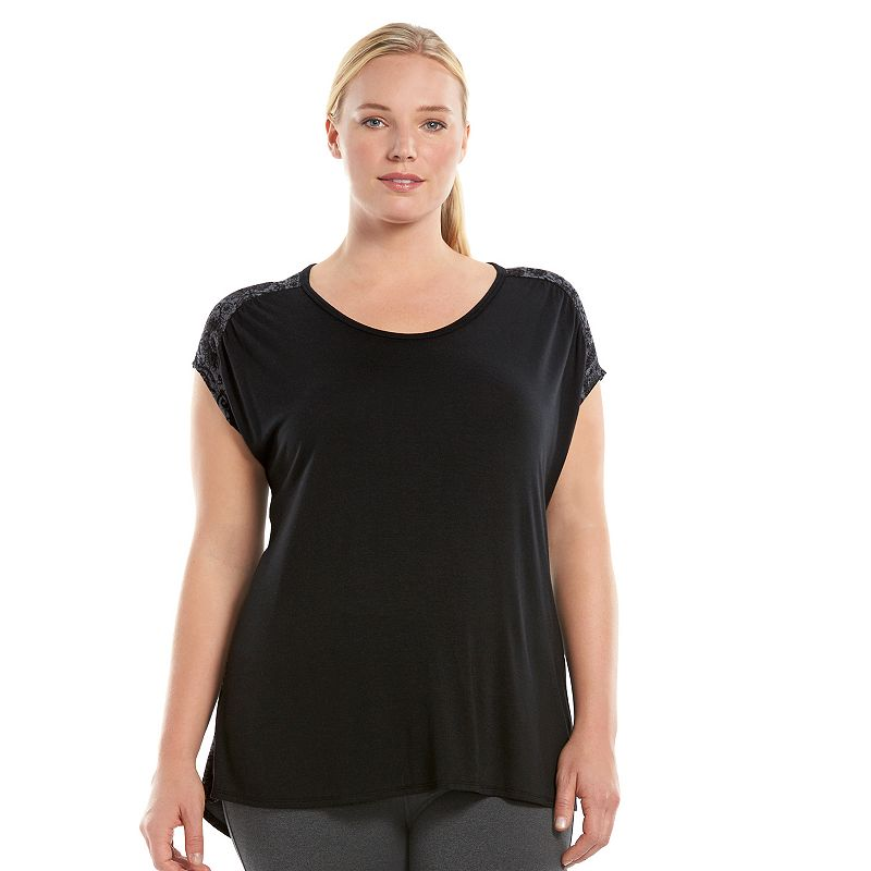 Plus Size Gaiam Reflect Studio to Street Scoopneck Tee