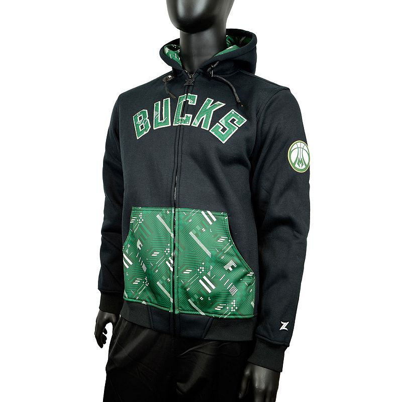 Men's Zipway Milwaukee Bucks Signature Basics Hoodie