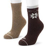 Columbia 2-pk. Snowflake Heavyweight Wool Crew Socks - Women