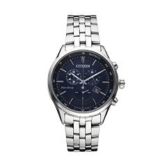 Citizen Eco-Drive Men's Sapphire Stainless Steel Chronograph Watch AT2141-52L