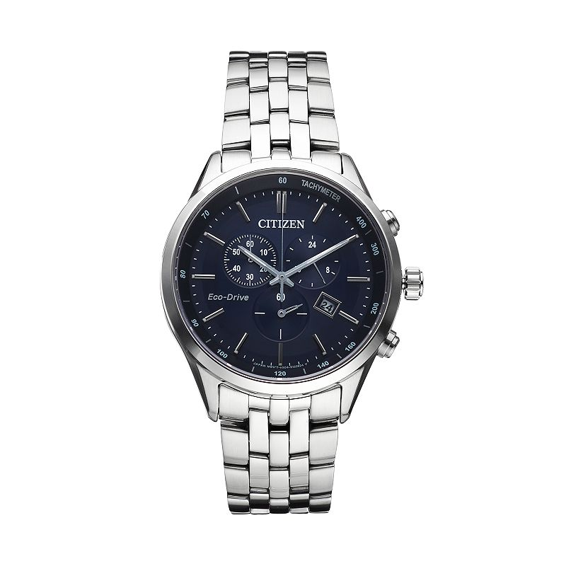 Citizen Eco-Drive Men's Sapphire Stainless Steel Chronograph Watch - AT2141-52L