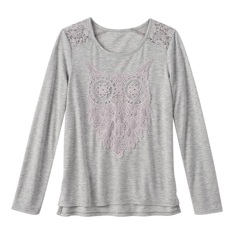 Girls 7-16 & Plus Size Mudd® Crochet Shoulder Top