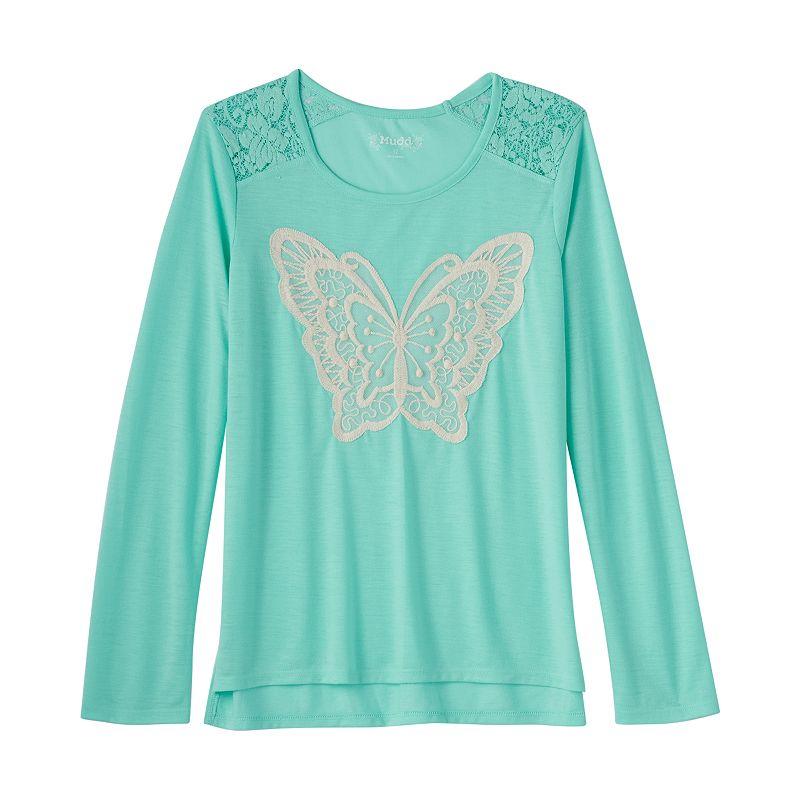 Girls 7-16 & Plus Size Mudd® Crochet Shoulder Top