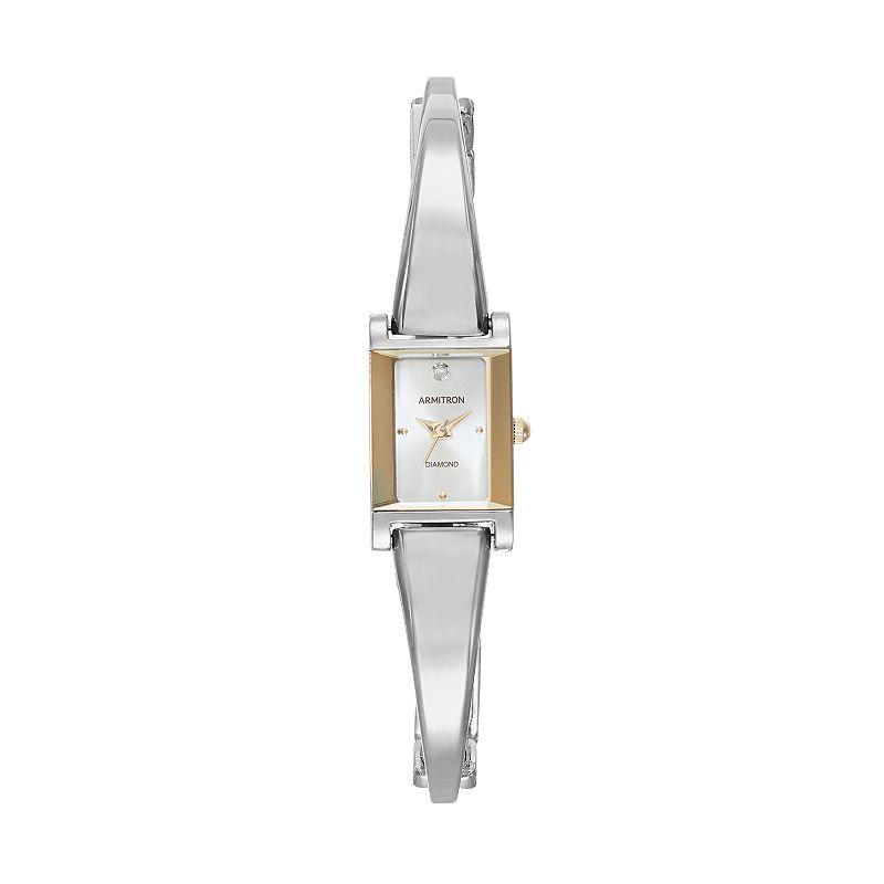 Armitron Women's Diamond Half-Bangle Watch - 75/5322BKGP