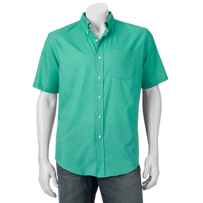 Men's Croft & Barrow® Solid Easy-Care Button-Down Shirt