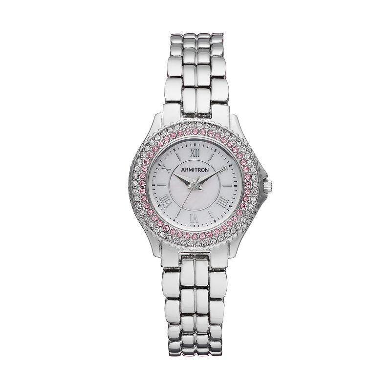 Armitron Women's Crystal Watch - 75/5332PMSV