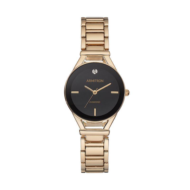 Armitron Women's Diamond Watch - 75/5334BKGP