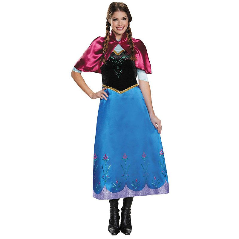 Disney's Frozen Deluxe Anna Traveling Gown - Adult