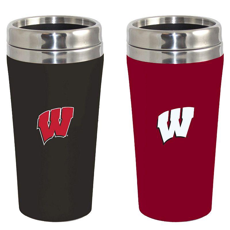 Wisconsin Badgers 2-Pack Travel Tumbler Set
