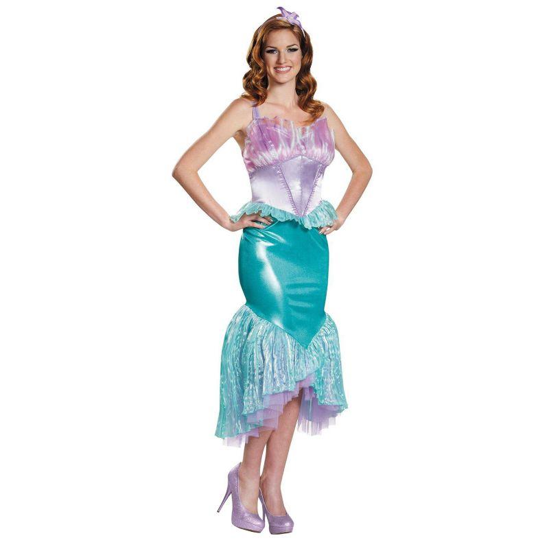Disney Princess Ariel Deluxe Costume - Adult Plus (Purple/Blue)