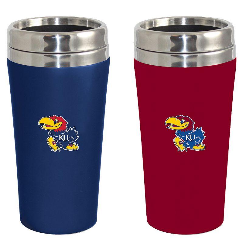 Kansas Jayhawks 2-Pack Travel Tumbler Set